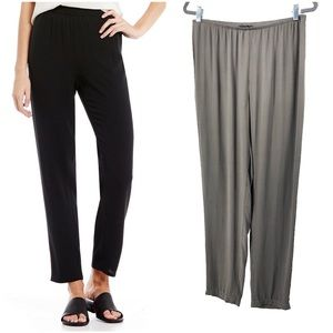 Eileen Fisher   Silk Georgette High Waist Pants